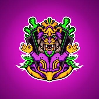 Logo mascotte tigre ermite