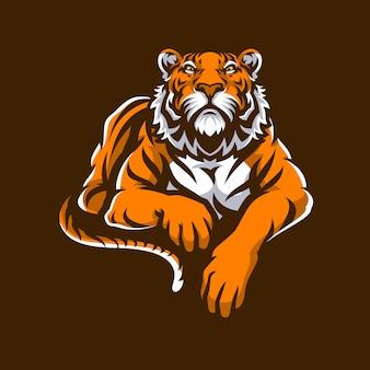 Logo mascotte tigre sport.