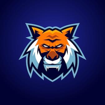 Logo de mascotte de tigre