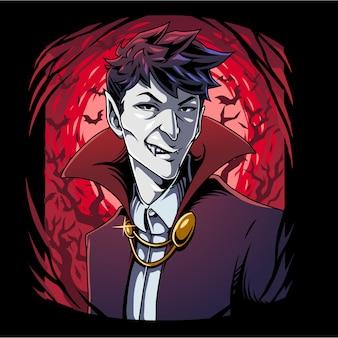 Logo de mascotte de vampire
