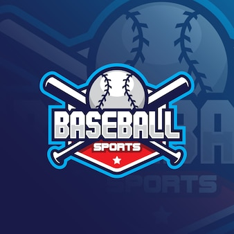 Logo de mascotte de vecteur de baseball