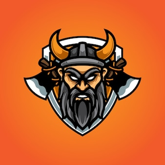 Logo de la mascotte viking e sport