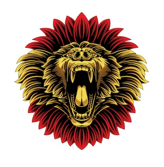 Logo de mascotte de visage de singe de babouin en colère