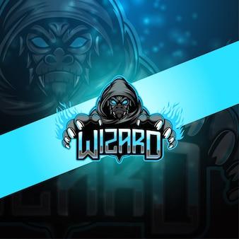 Logo mascotte wizard esport