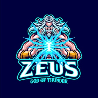 Logo de la mascotte zeus pour l'esport et l'équipe sportive
