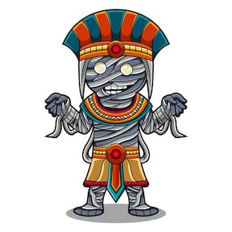 Logo de mascotte zombie chibi