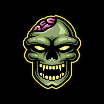 Logo de la mascotte zombie esport gaming