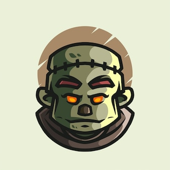 Logo de la mascotte zombie