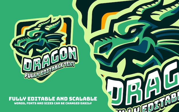 Logo de mascottes de sport de dragon