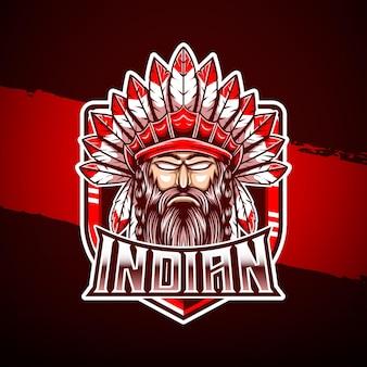 Logo mascto indien