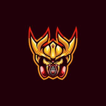 Logo de masque de cyborg