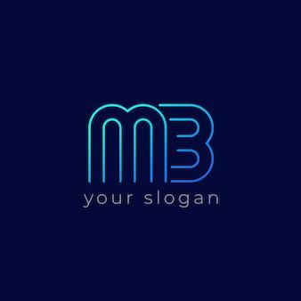 Logo mb, conception de ligne monogramme