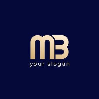 Logo mb, conception de vecteur de monogramme