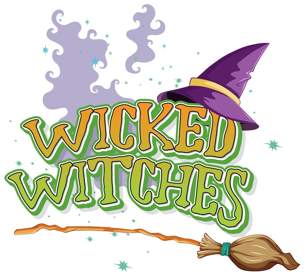 Logo de méchantes sorcières sur blanc