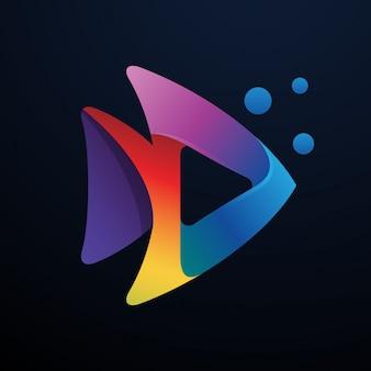 Logo média couleur poisson