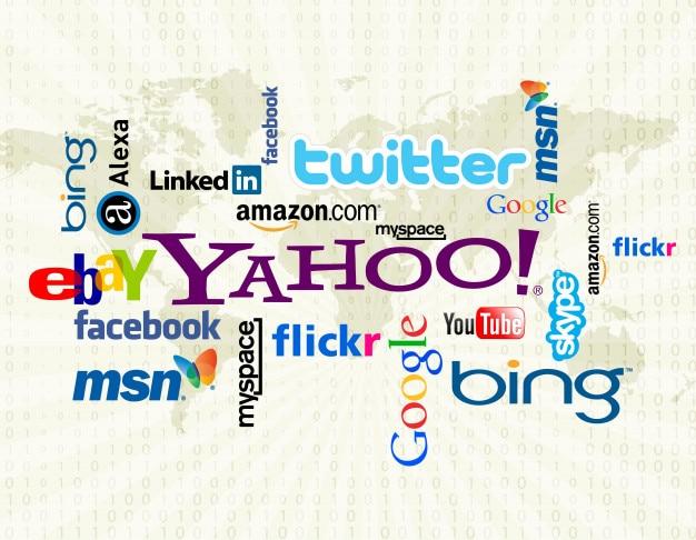 Logo des médias sociaux wordcloud