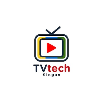 Logo de médias tv moderne coloré