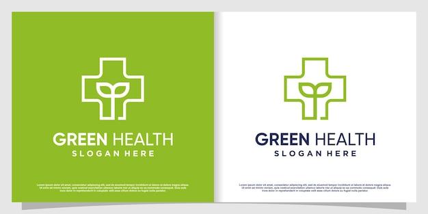 Logo médical avec élément créatif vecteur premium partie 1
