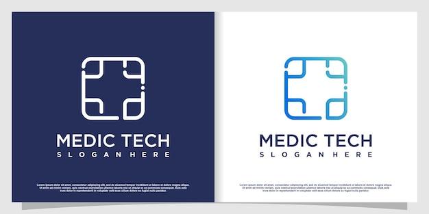 Logo médical avec élément créatif vecteur premium partie 3