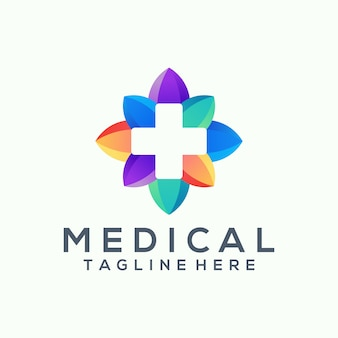 Logo médical de fleur