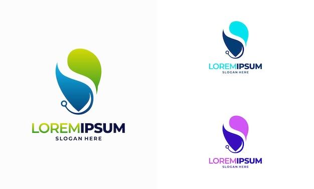 Le logo de medical point conçoit l'illustration vectorielle de concept, le symbole d'icône de modèle de logo de point de santé