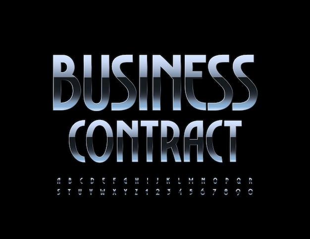 Logo métallique business contract gradient chrome