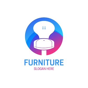 Logo de meubles avec chaise