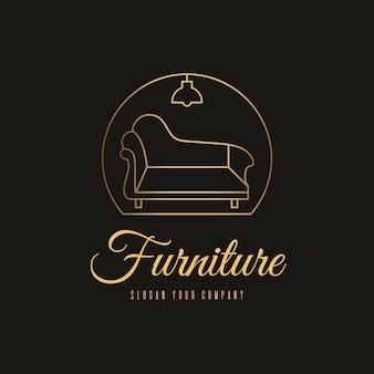 Logo de meubles dorés