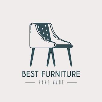 Logo de meubles rétro