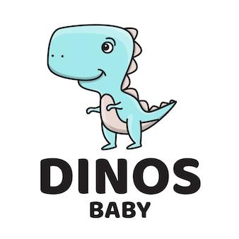 Logo mignon bébé dinosaure