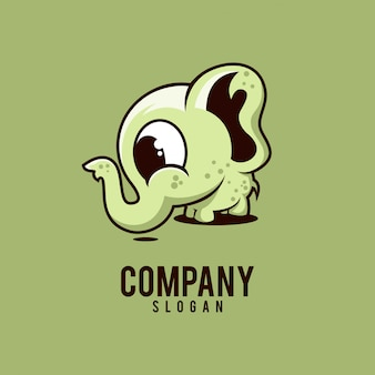 Logo mignon d'éléphant