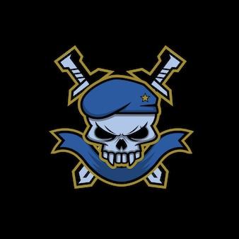 Logo militaire de crâne