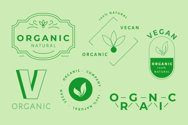 Logo minimal mis en deux couleurs