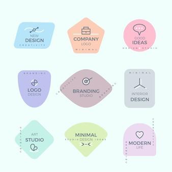 Logo minimal serti de couleurs pastel