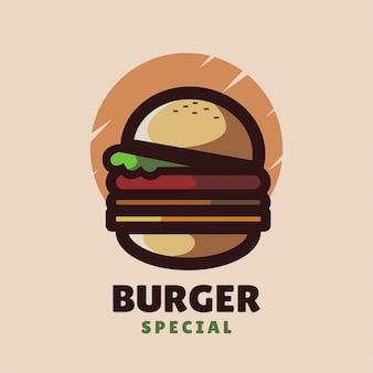 Logo minimaliste de burger