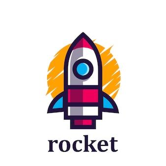 Logo minimaliste de fusée