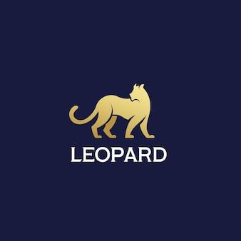 Logo minimaliste léopard