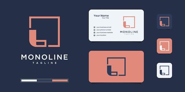 Logo minimaliste de la lettre l pour les entreprises de luxe, élégant, abstrait.