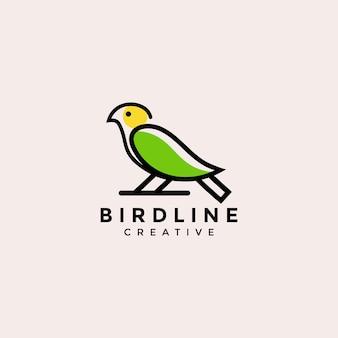 Logo minimaliste d'oiseau de contour