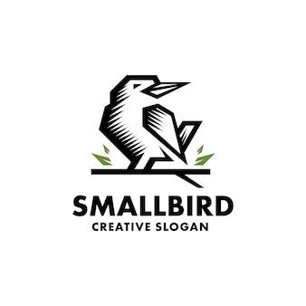 Logo minimaliste d'oiseau