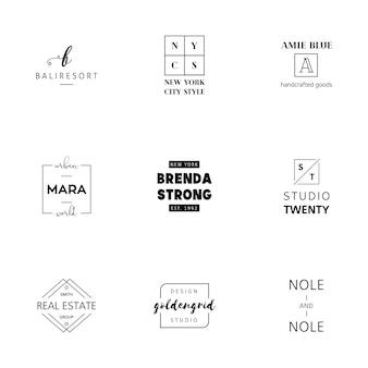 Logo minimaliste templates collection