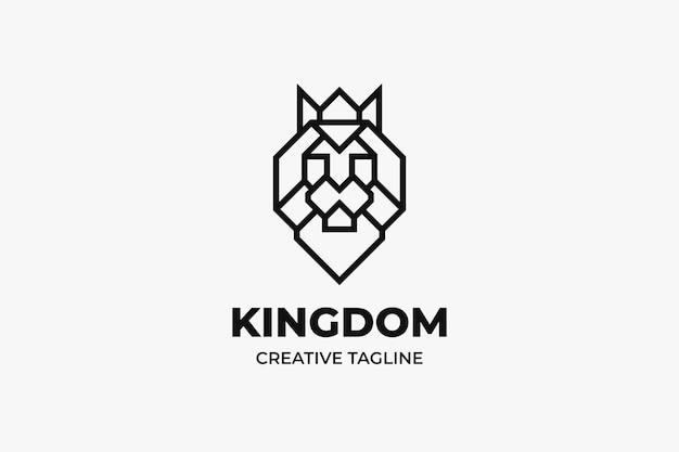 Logo minimaliste de tête de lion