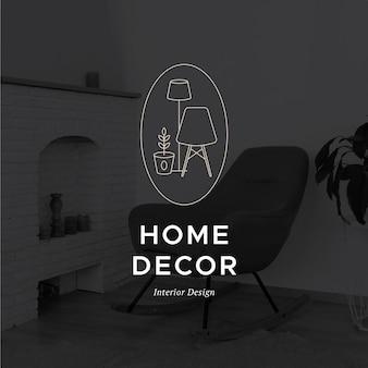 Logo de mobilier minimal