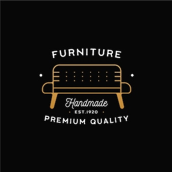 Logo de mobilier minimaliste