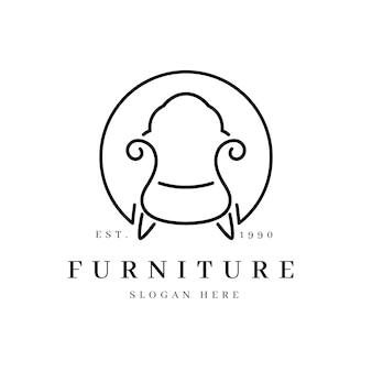 Logo de mobilier simple