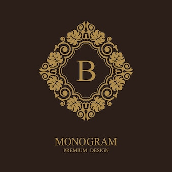 Logo de modèle calligraphique monogramme