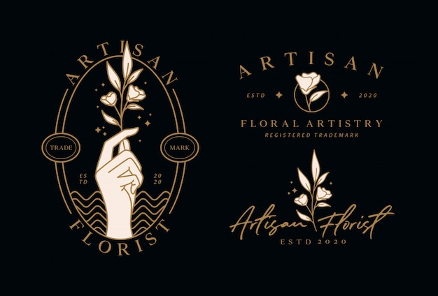Logo de modèle de fleuriste
