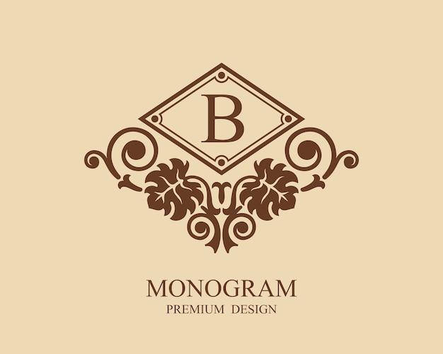 Logo de modèle vintage monogramme