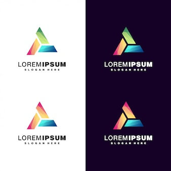 Logo moderne coloré