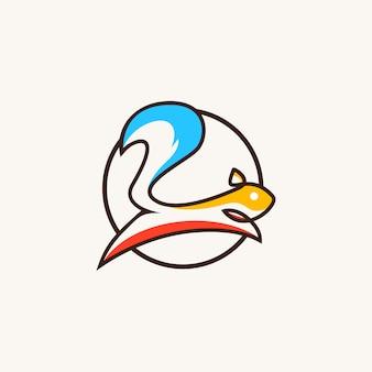 Logo moderne d'écureuil
